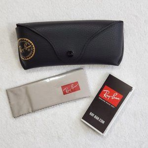 Ray-Ban Case Pebbled Leather Eyeglass Case